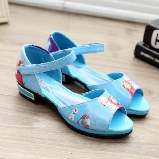 Giày Elsa hở mũi mùa hè cho bé gái