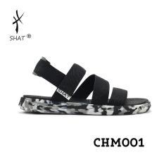 Giày Sandal SHAT F5 camo đen dù đen full