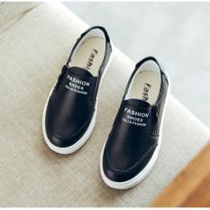 Giày lười bé trai, da mềm chống trơn trượt (mầu đen)