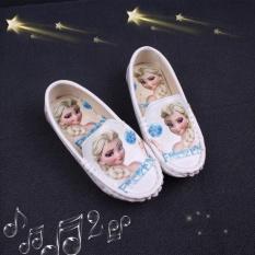 Giầy lười Elsa bé gái xinh yêu – Màu Trắng