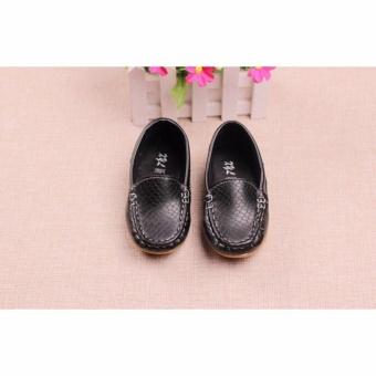 Giày lười Moca đen cho bé trai