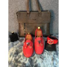 Giày Lười Nam Thời Trang ( Đỏ )