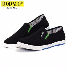 Giày lười nam thời trang DODACO LAS0014 (Xám Đen Xanh)