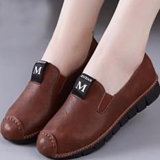 Giày lười neon nữ S1067 (Nâu) êm chân, thoải mái đi bộ – SHOPMAIKA