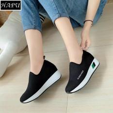 Giày lười nữ độn đế LENCIA HAPU – DLA01 (đen)