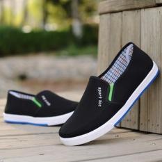 Giày Lười Vải Nam – CV7 (Đen)