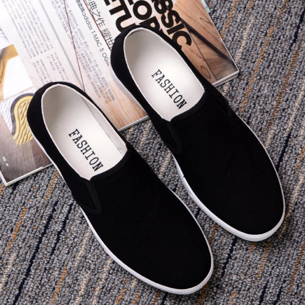 Giày lười vải nam - GV03 ( đen )