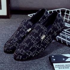 Giày lười vải nam – GV010 (Đen)