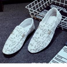Nơi Bán Giày lười vải nam – GV010 ( trắng )