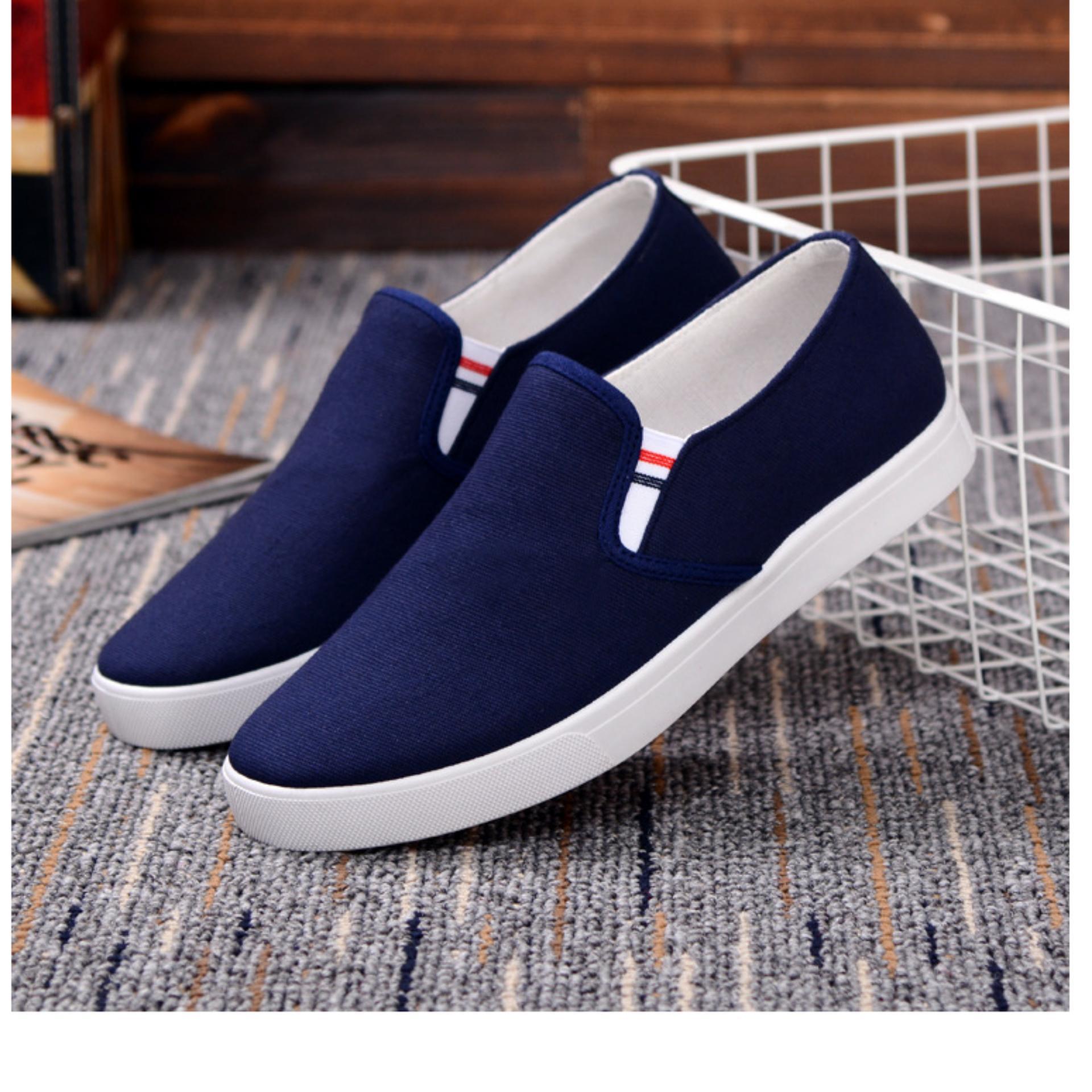 Giày lười vải nam QA Store (Xanh)