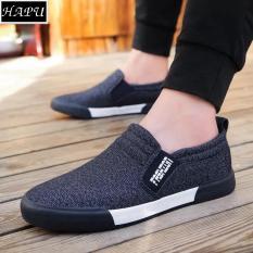 Giày slip on nam Giày lười nam thời trang và lịch sự Fashion – HAPU – LFS002 (xanh than)