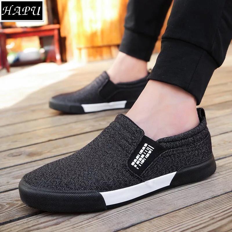 So sánh giá Giày lười nam thời trang và lịch lãm Fashion – HAPU (tùy chọn: đen hoặc xanh navy) Tại HAPU