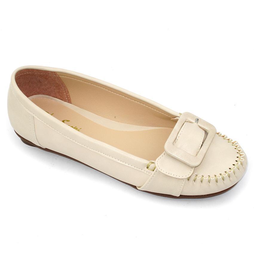 Giày mọi nữ Om Fashion 785 (Kem)