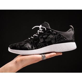 Giày nam bata vân nổi SM037 (Đen)