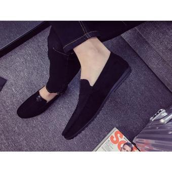 Giày nam mọi chỉ ngang SM036 (Đen)