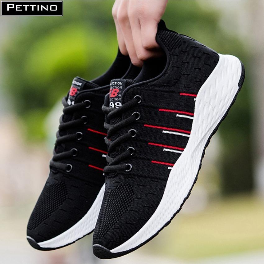 Giày nam sneaker cao cấp – Pettino P003 (đen)