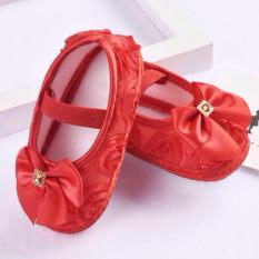 Giày nơ đỏ tập đi xinh xắn cho bé gái