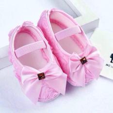 Giày nơ tập đi xinh xắn cho bé gái
