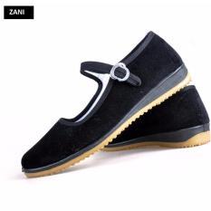 Giày nữ đế bằng có quai Zani ZN31037YB-Đen