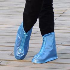 Giày nữ đi mưa dây kéo trước Kmdeal