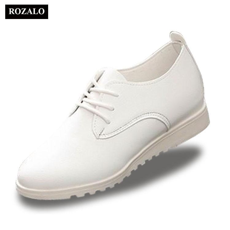 Giày Nữ Oxford Zani Zwg7088w (Trắng)