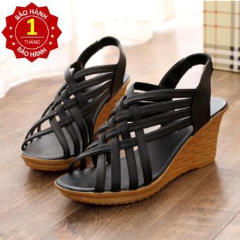 Giày nữ sandal đế xuồng 7cm quai đan chéo màu đen thời trang sành điệu - 8447286 , OE680FAAA5RTXZVNAMZ-10618683 , 224_OE680FAAA5RTXZVNAMZ-10618683 , 345000 , Giay-nu-sandal-de-xuong-7cm-quai-dan-cheo-mau-den-thoi-trang-sanh-dieu-224_OE680FAAA5RTXZVNAMZ-10618683 , lazada.vn , Giày nữ sandal đế xuồng 7cm quai đan chéo