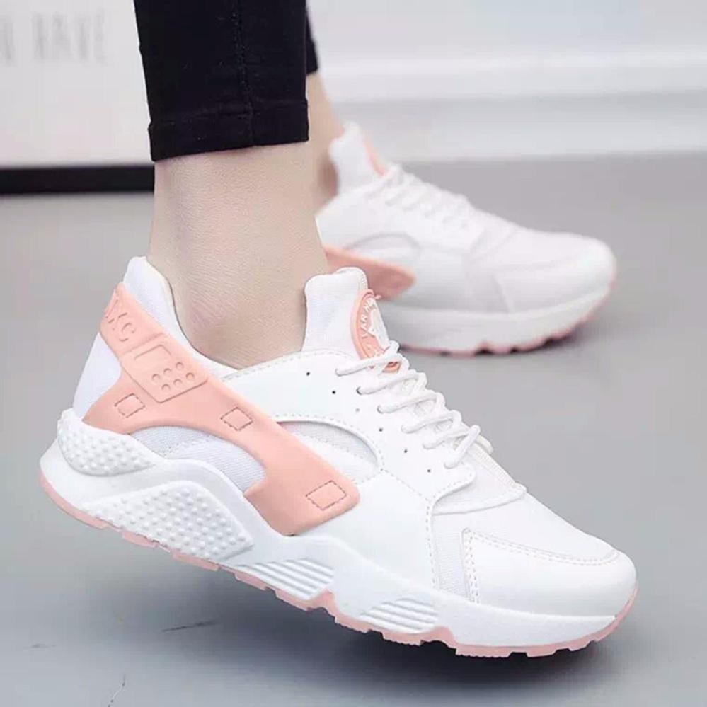 Giày Nữ Thời trang -ilala-Hurache005(Trắng cam)