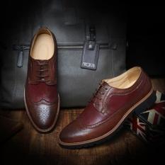 Giày Oxford brouge – Giày da cao cấp – Giày công sở nam đỏ