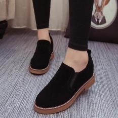 Giày Oxford Nữ da lộn ôm chân – MSP 2727 (Đen)