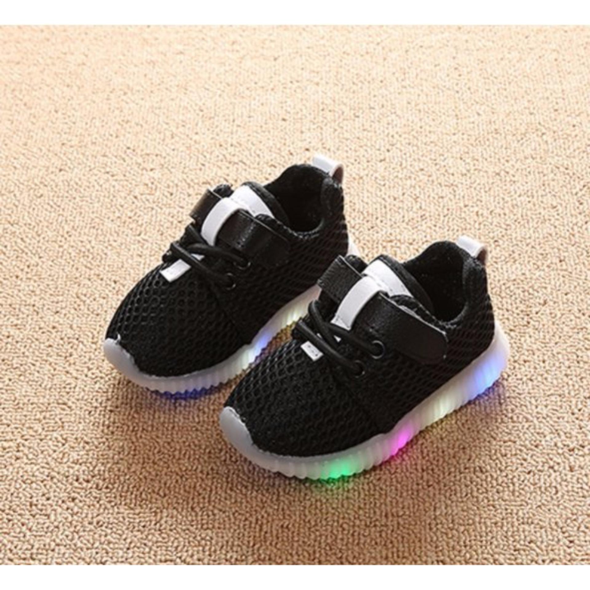 Giày phát sáng dành cho bé màu đen cỡ 21 -AL