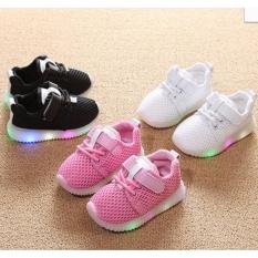 Giầy trẻ em giầy phát sáng LED bền đẹp giá tốt màu trắng cỡ 24 -AL