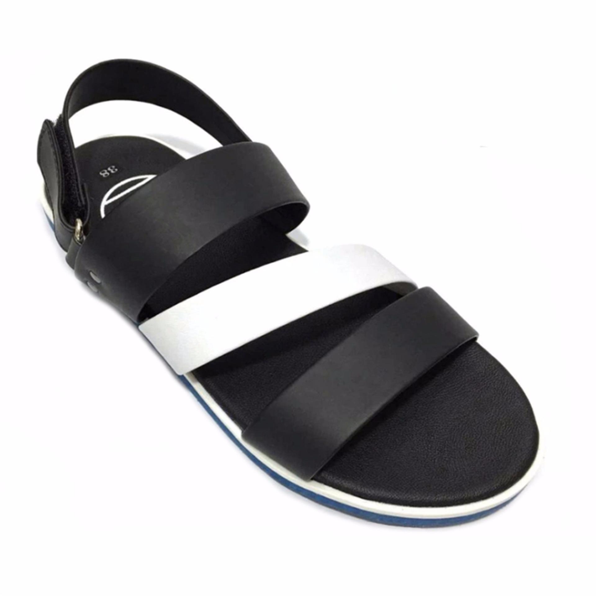 Đánh giá Giày Sandal 3 quai ngang nam thời trang Everest – EVE01 (Đen phối trắng) D37 Tại Thời Trang Everest