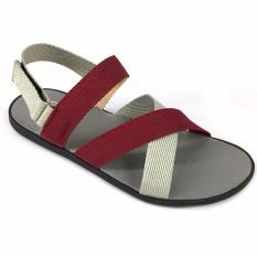 Giày sandal nam 3 quai ngang chéo thời trang Everest EV14 (Đỏ – Xám) A246