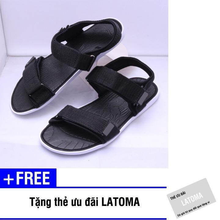 Giày Sandal nam quai dù thời trang cao cấp Latoma TA0551 (Đen)+Tặng kèm thẻ ưu đãi Latoma