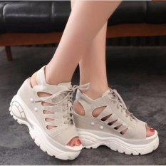 Giày Sandal nữ nâng để cá tính S037X (Xám)