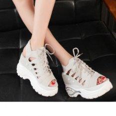 Giày Sandal nữ nâng để cá tính S037X (Xám).