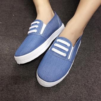 Giày Slip On 3 dây nữ CS1406 (Xanh nhạt) - 5