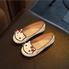 giày slip on hình chú mèo xinh cho bé gái