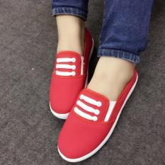 Giày slip on Koin 3 dây màu đỏ VV158