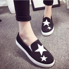 Giày slip on Koin ngôi sao màu đen VV33