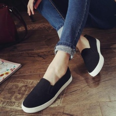 Giày slip on Koin trơn màu đen VV108