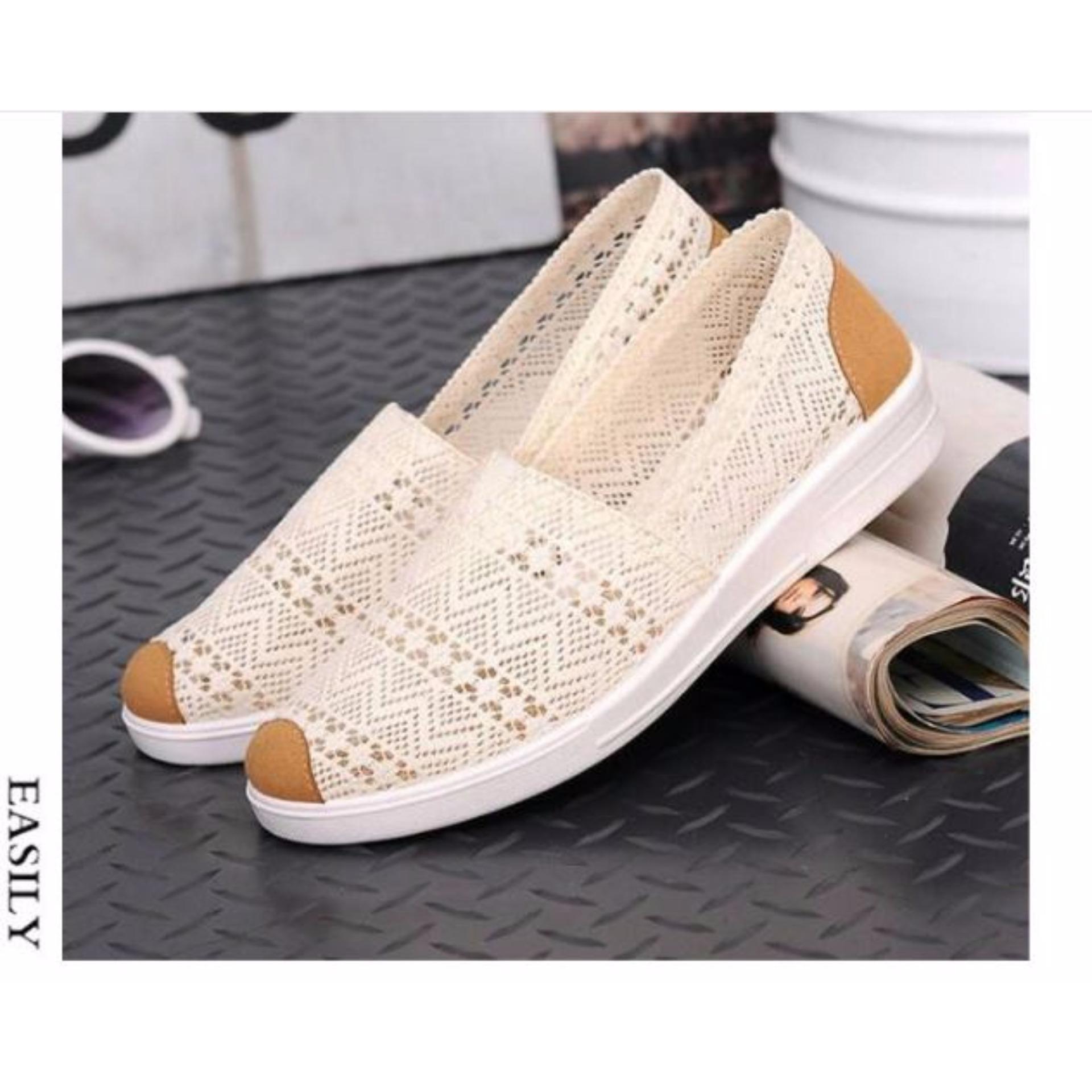 Giày slip-on nữ vải ren D&D – SF008