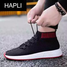 Giày sneaker nam cổ chun HAPLI – NewNMD02 (đen đế đỏ)