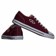 Giày Sneaker Nam Cổ Thấp CODAD CANVAS (Đỏ Đậm)