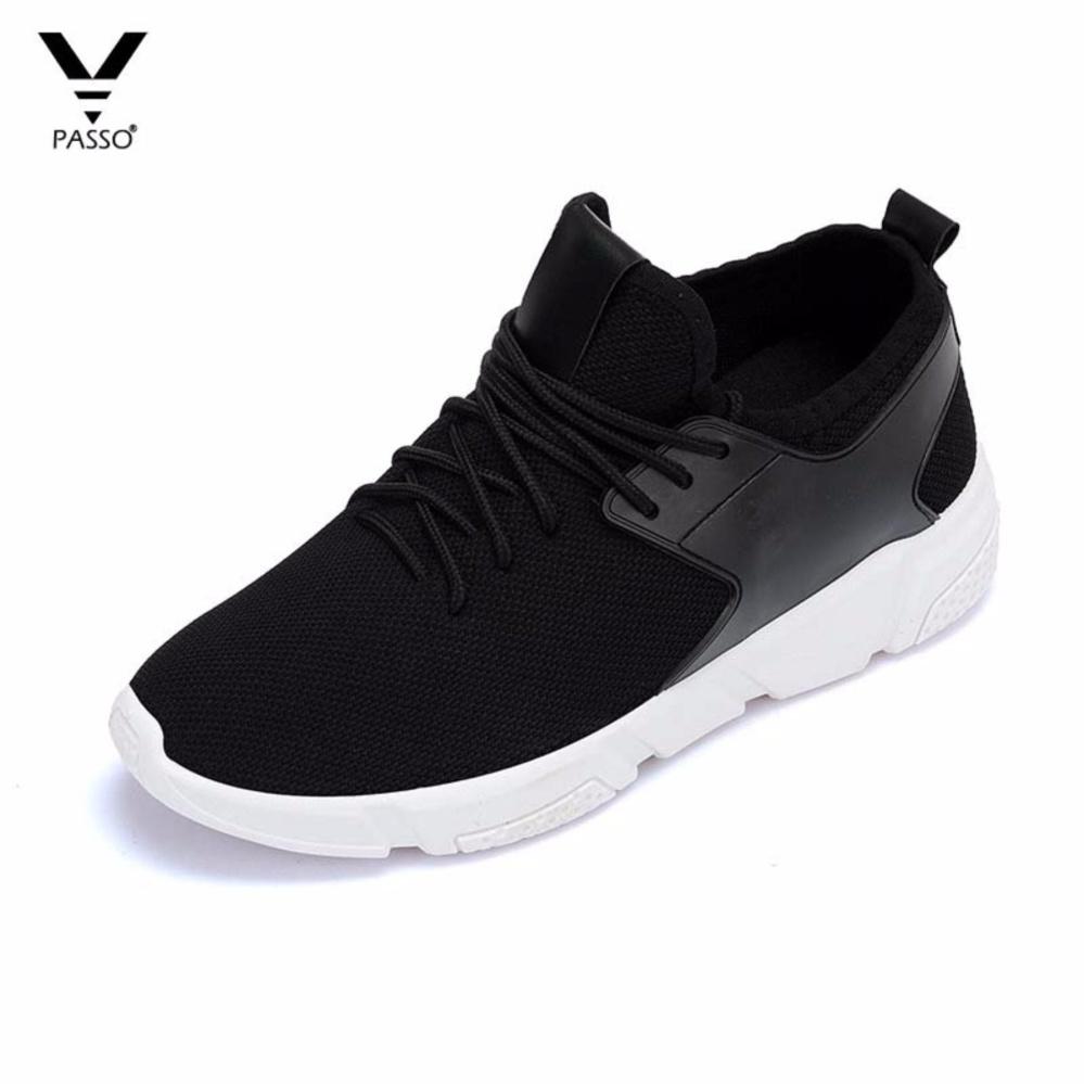 Giày Sneaker Nam Hàn Quốc PASSO G056 (Đen)