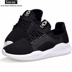 Giày Sneaker Nam Hàn Quốc SACAS SC029(ĐEN)