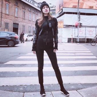Giày sneaker nữ cao cổ chun hot nhất - HAPU - TBLcao1 (đen) - 2