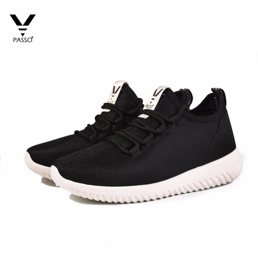 Giày Sneaker Nữ Hàn Quốc PASSO G034 (ĐEN)