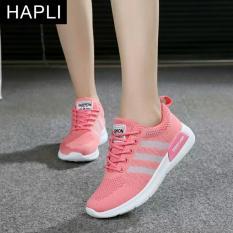 Giày Sneaker nữ sọc chéo HAPLI- 3SC02