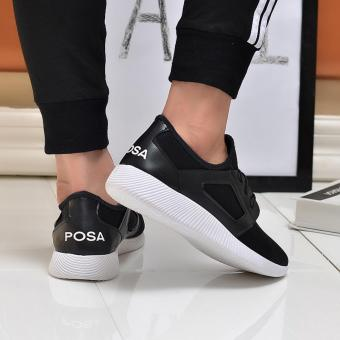 Giày Sneaker Thể Thao Nam Cá Tính POSA PS007 (Đen) - 5